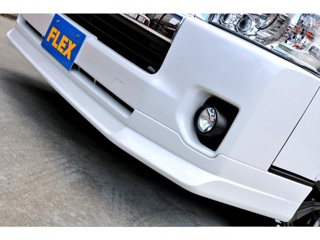 FLEXオリジナル Delfino Lineフロントスポイラーを装着!!