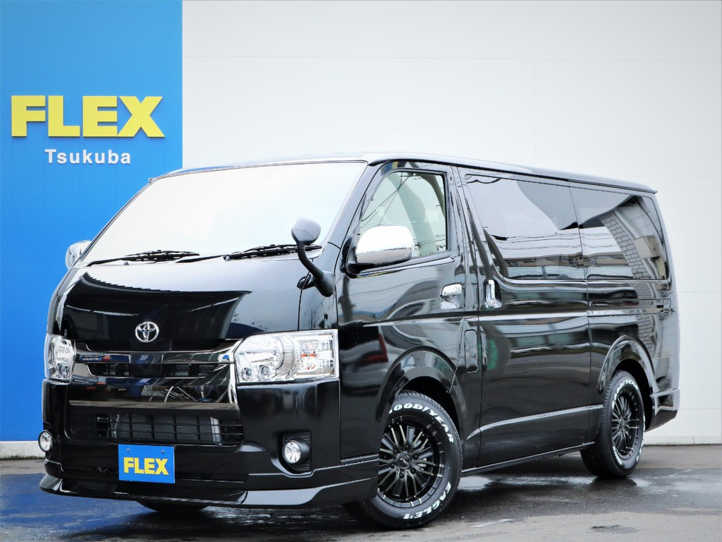 新車ハイエースVスーパーGL5人乗り2WDディーゼル車、特別仕様車ダークプライム2ライトカスタムが入庫!