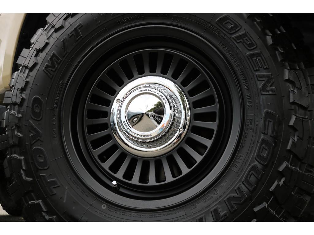 DEANカリフォルニア16インチAW&オープンカントリー235MTタイヤ×5本を当店で新品装着しております!
