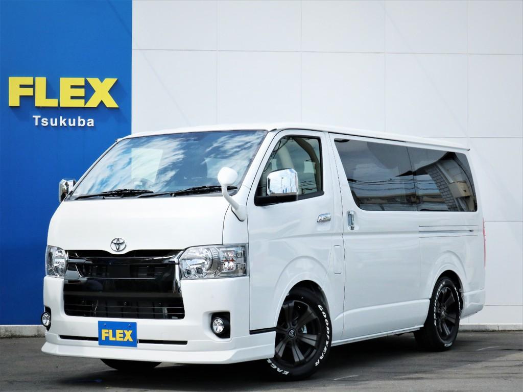 新車ハイエースVスーパーGL5人乗り2WDガソリン車、特別仕様車ダークプライム2が入庫!