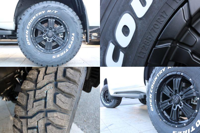 新品クロスクロウ17インチAW&オープンカントリーR/T285タイヤ!
