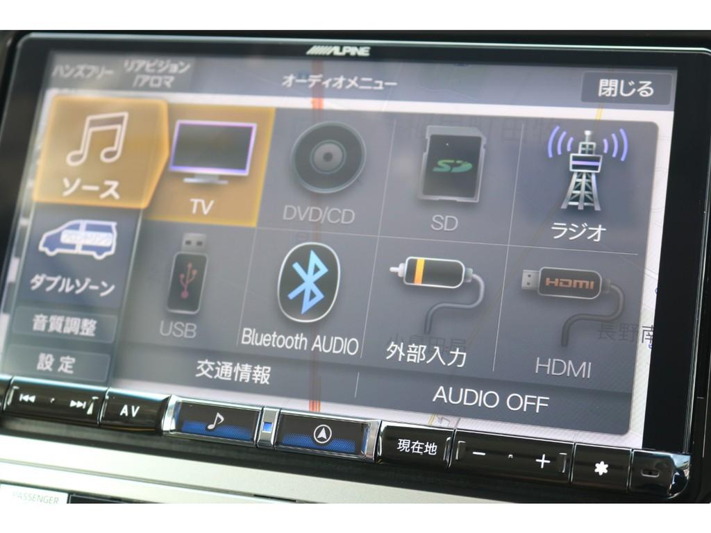 Bluetooth接続、各外部入力も可能となっております!