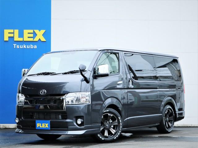 【新型/ガソリン】新車ハイエースVスーパーGL2WD特別仕様車!17AW・ローダウン・パワスラ・SDナビ・フルセグTV!