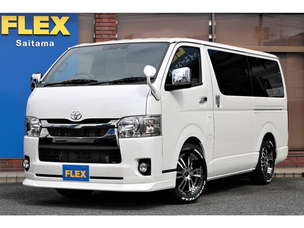新車ハイエース特別仕様車ダークプライムⅡ!人気のガソリン!FLEXナビパッケージ☆