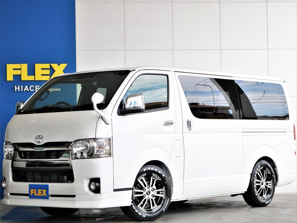 【新車】バンライフに最適♪ハイエースS-GLダークプライムⅡガソリン2WD 便利な小窓付きスライドドア♪街乗りに適してるガソリン車!!