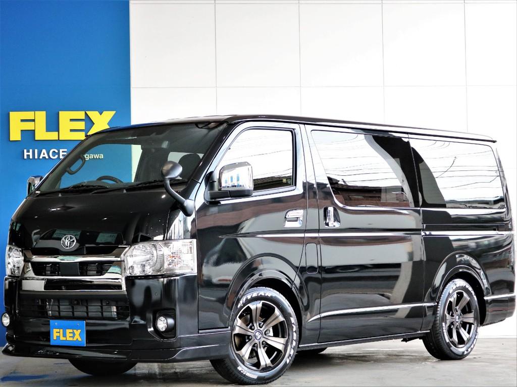 新車 ハイエースS-GLダークプライムⅡ 街乗りしやすいガソリン2WD FLEXカスタム オートローン120回まで取り扱い可能♪