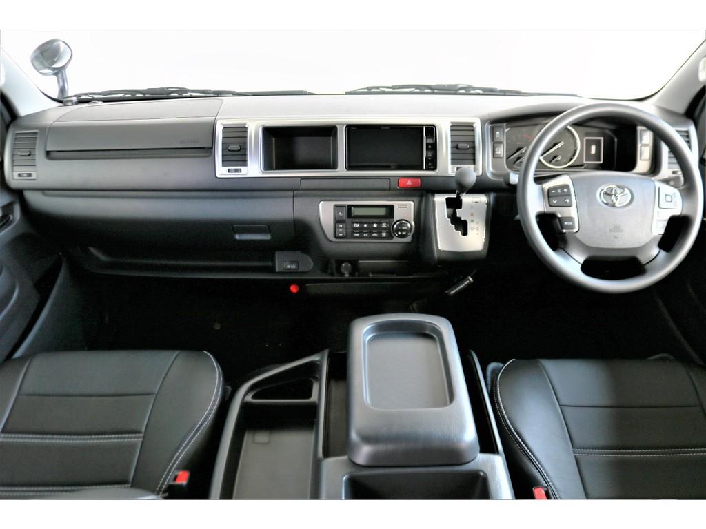 運転席、助手席ともにFLEXオリジナルシートカバーが装着されています!!
