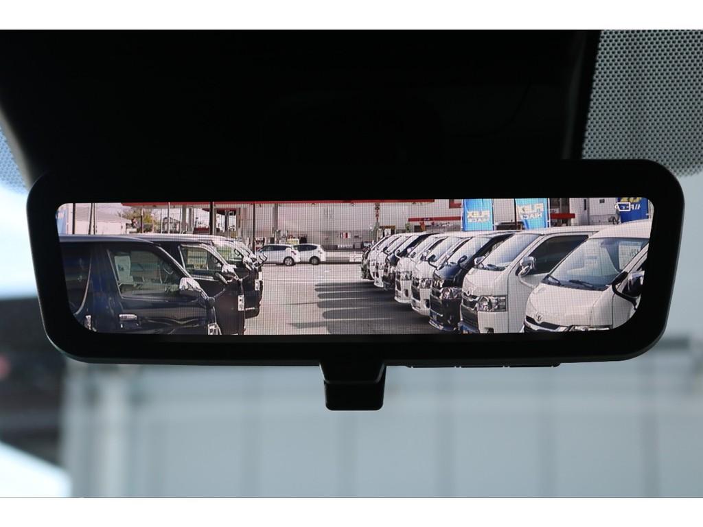 純正のデジタルインナーミラー搭載で車両後方も見やすくなっております!!