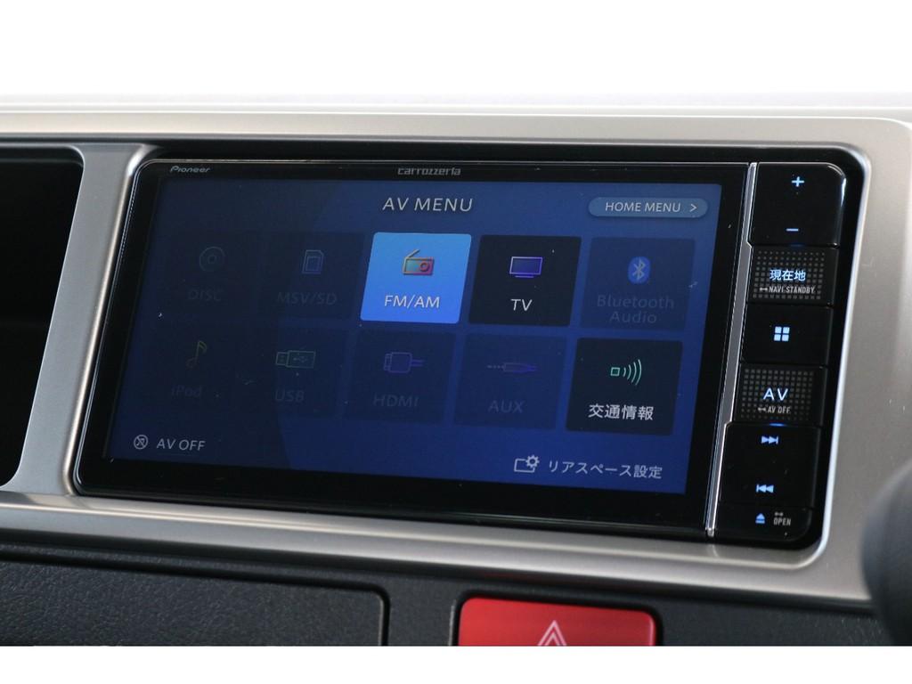 ナビは、TV、ブルートゥース接続可能となっており、ドライブの際の雰囲気作りはバッチリです!!
