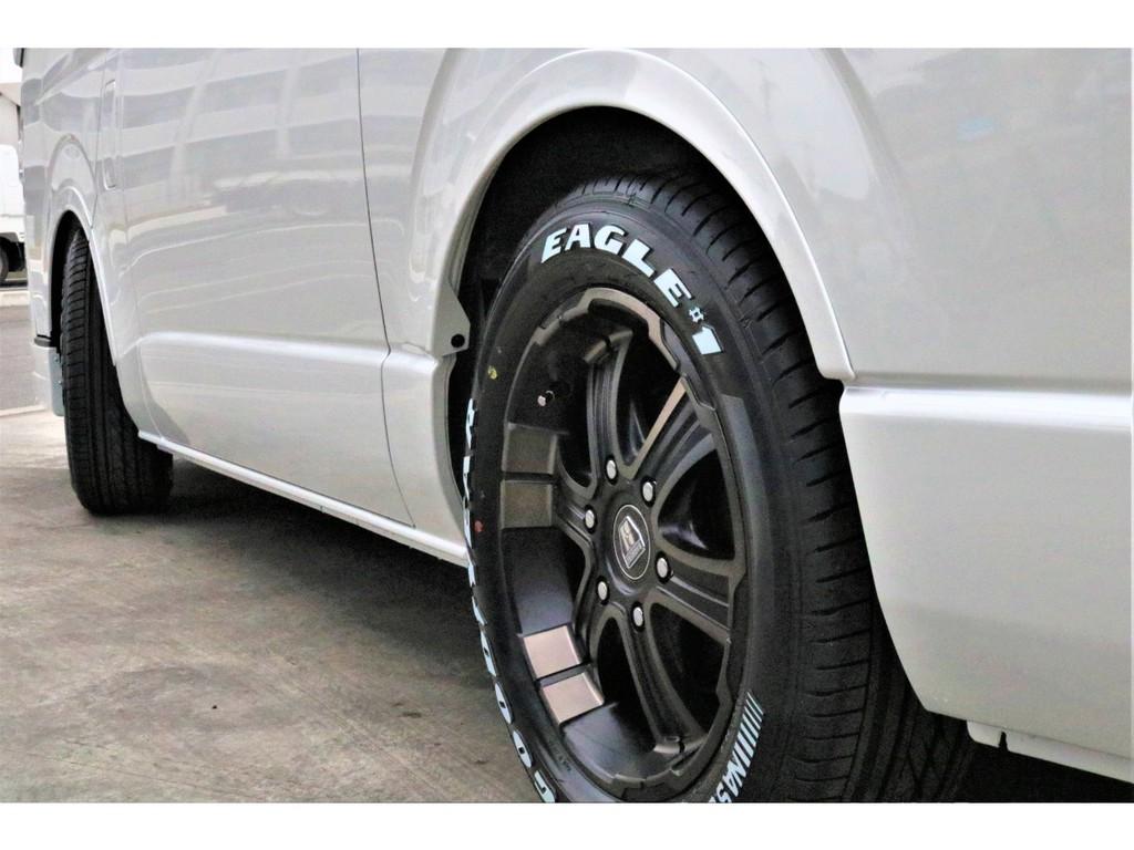 ローダウン1.5インチ・アルミタイヤセット・オリジナルオーバーフェンダー