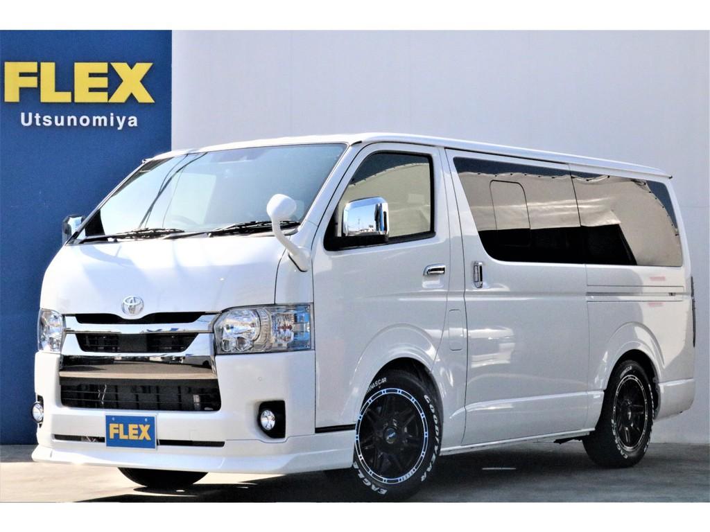 【新車】ハイエースS-GLロング ダークプライムⅡ2.8ディーゼル2WD 小窓付きフローリングパッケージ