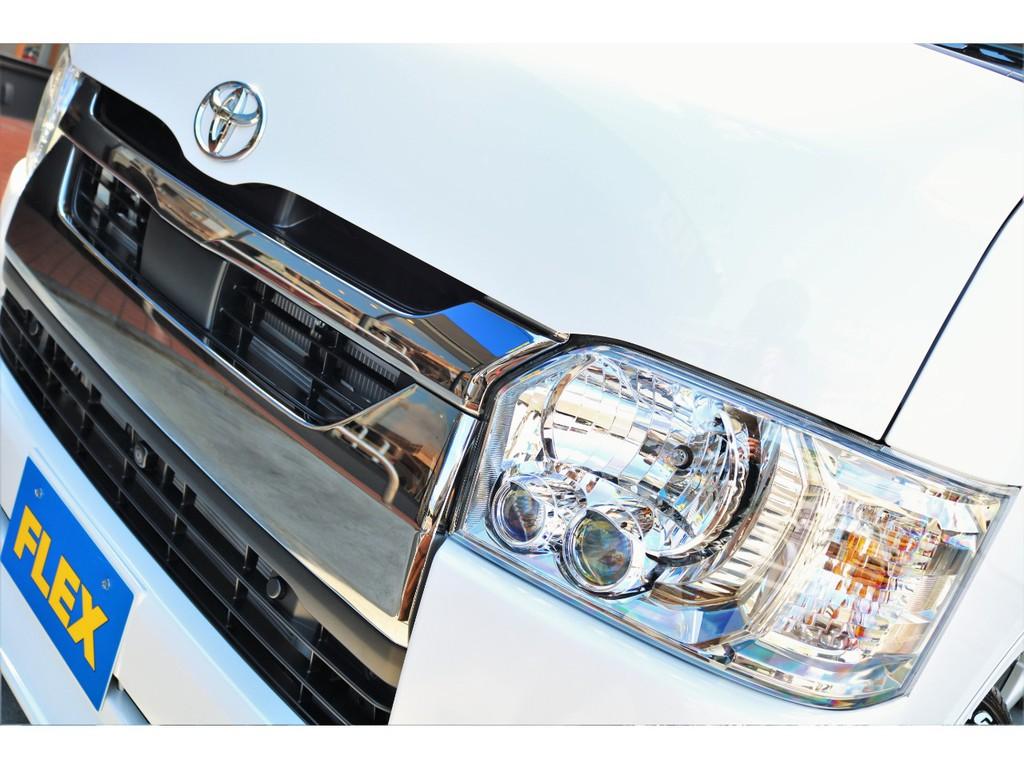 LEDヘッドライト搭載!視界も明るく見えやすいですよ!!