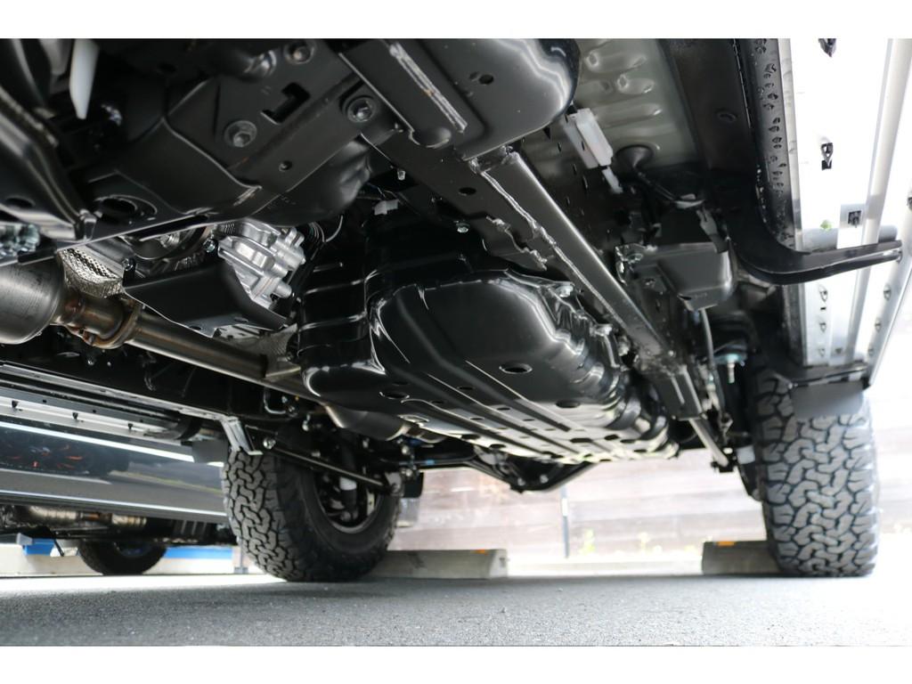 堅牢なラダーフレームに、センターデフロック付きフルタイム4WD!本格派SUVですね!