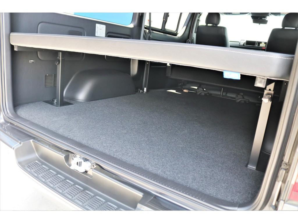 ベッド下は収納可能!!車中泊時にも便利!