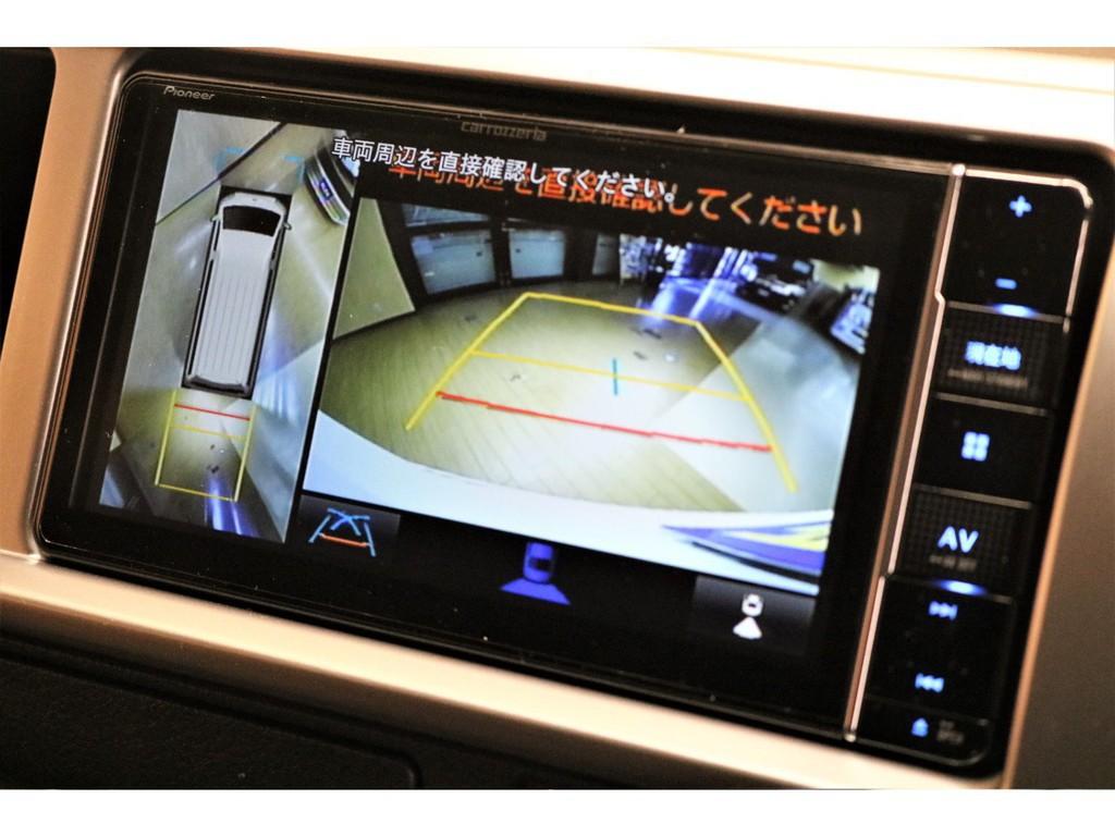 PVM連動施工済みでバック駐車や狭い道でも安心です♪