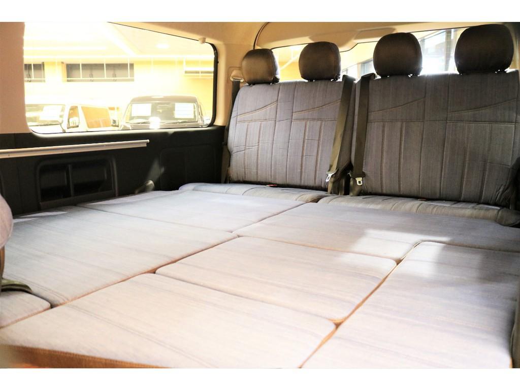 ベッドスペース完備で長時間運転の休憩時にゆったり出来ます!