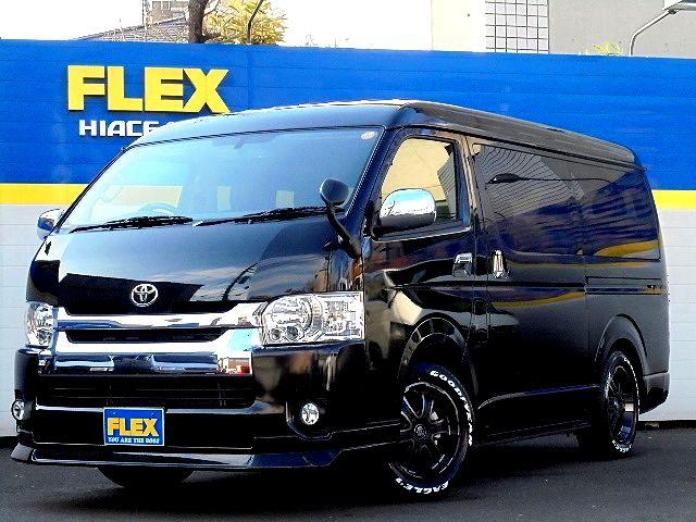 【新車4WD寒冷地仕様ナビパッケージ】ハイエースワゴンGL!FLEXバルベロ17AW!煌LEDテール!FLEXスポイラー!