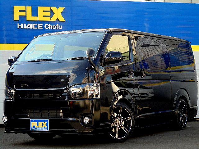 【CHOUFU発BLACKCOBRA】新車ハイエースVスーパーGLDelfinoLineボンネット!玄武3インチローダウンKIT!ショック!