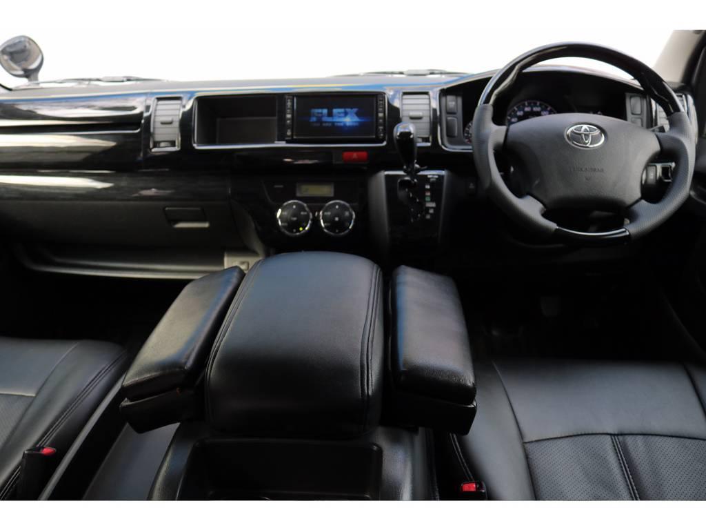 インテリアもしっかりカスタム済み! | トヨタ ハイエース 2.7 GL ロング ミドルルーフ MC-9