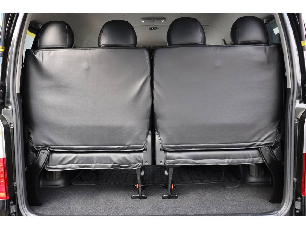 4列目は跳ね上げシートです! | トヨタ ハイエース 2.7 GL ロング ミドルルーフ MC-9