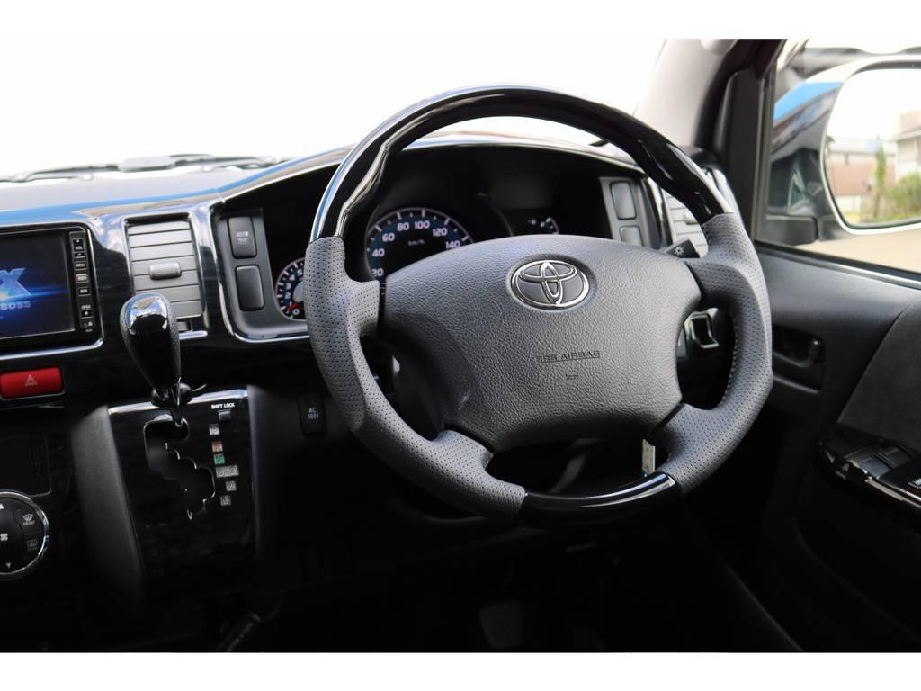 新品コンビハンドル&シフトノブ!インテリアパネルも装着! | トヨタ ハイエース 2.7 GL ロング ミドルルーフ MC-9