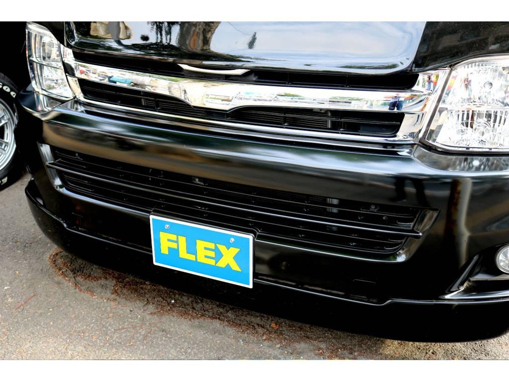 新品FLEXフロントスポイラー! | トヨタ ハイエース 2.7 GL ロング ミドルルーフ MC-9