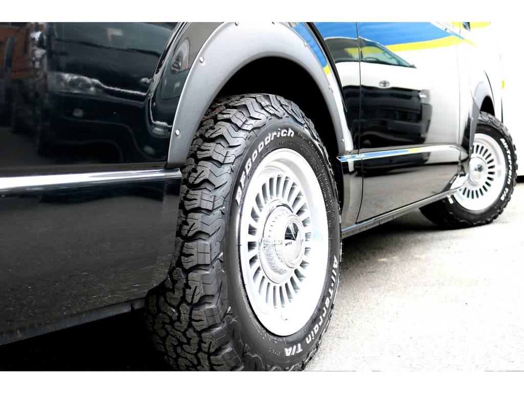 DEAN16インチアルミ!BFGOODRICHタイヤ! | トヨタ ハイエースバン 2.7 スーパーGL ワイド ロング ミドルルーフ 4WD
