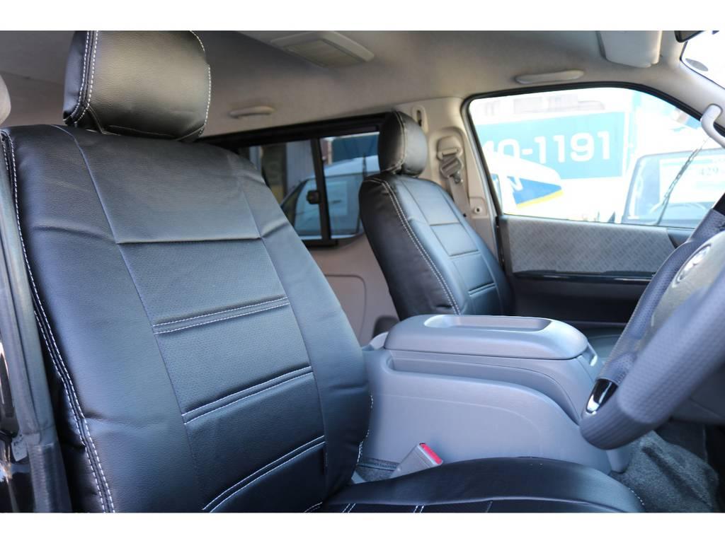 新品全席シートカバー装着! | トヨタ ハイエースバン 2.7 スーパーGL ワイド ロング ミドルルーフ 4WD