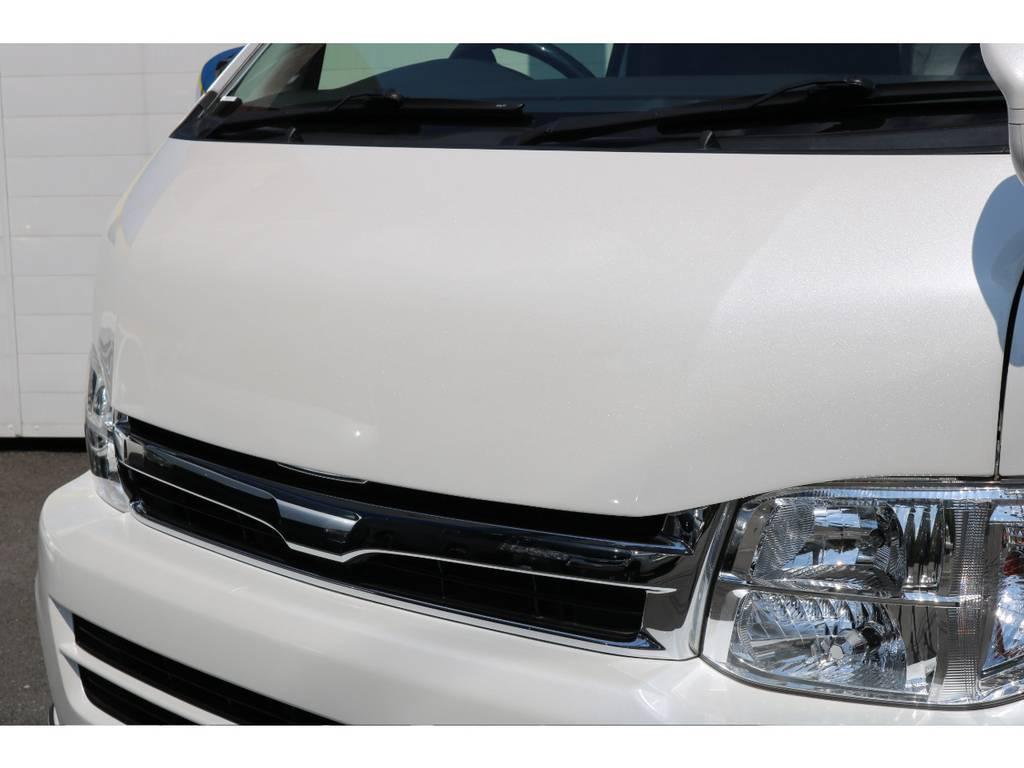 COBRAバットフェイスボンネット装着! | トヨタ ハイエース 2.7 GL ロング ミドルルーフ COBRAボンネット後期