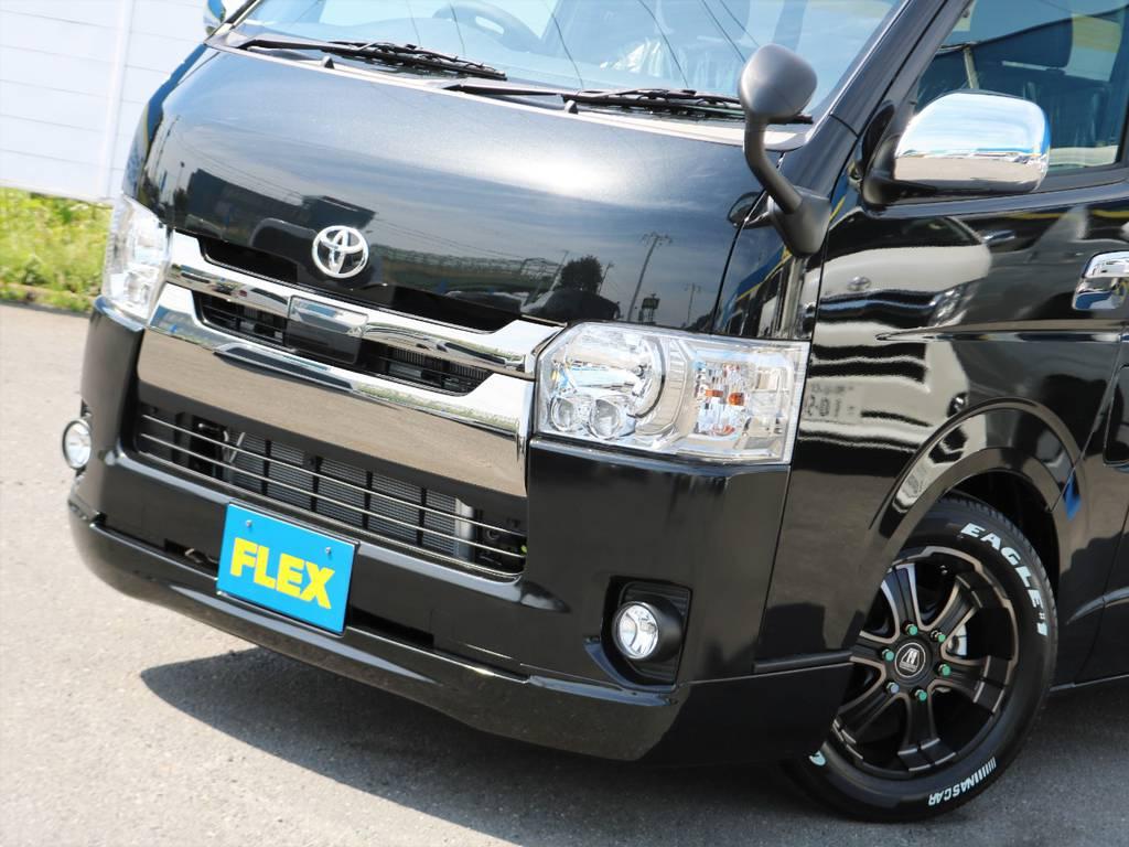 現行5型トヨタセーフティーセンス装着車両! | トヨタ ハイエースバン 2.8 スーパーGL ロング ディーゼルターボ ダークプライム TSS付 ライトカスタム