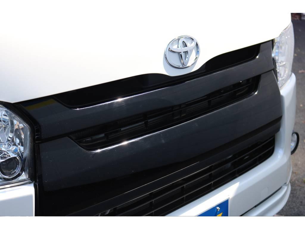フロントグリルブラックNEWペイント! | トヨタ ハイエースバン 2.0 スーパーGL ダークプライム ロングボディ