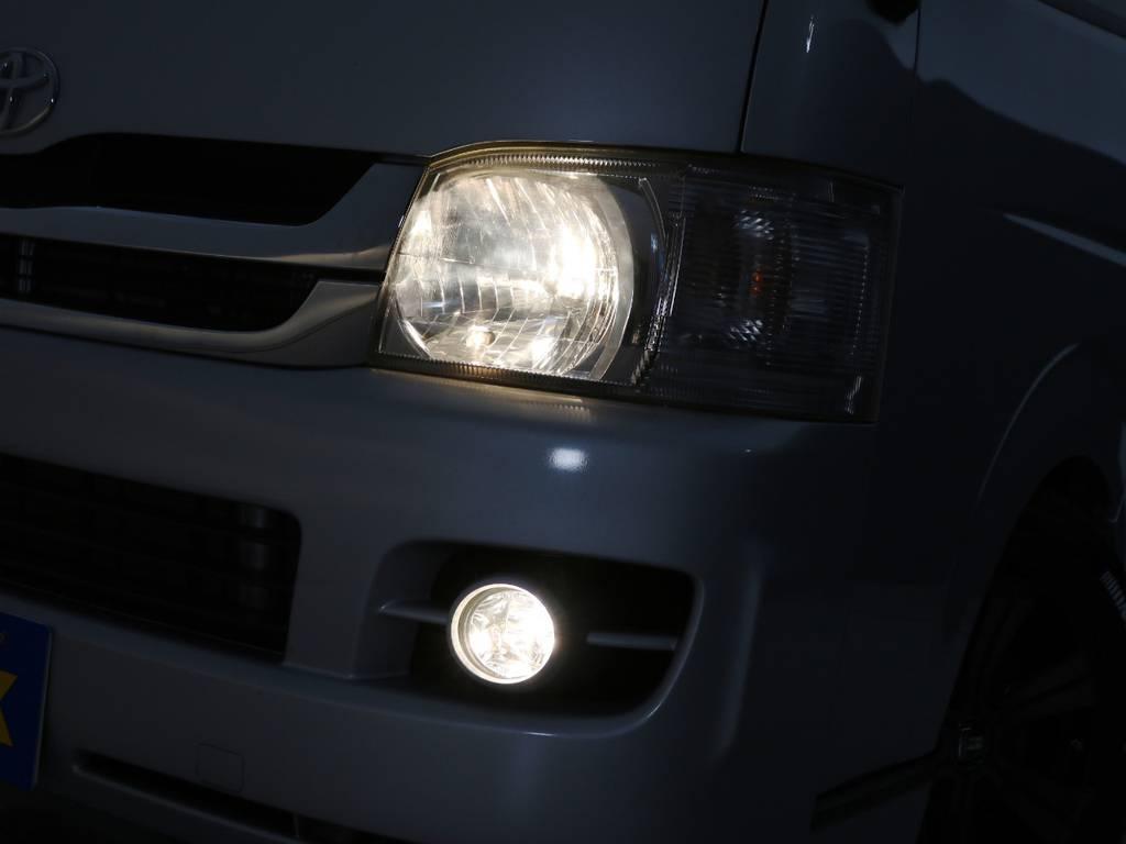 純正ハロゲンヘッドライト!LEDヘッドライト球への換装もお任せ下さい♪