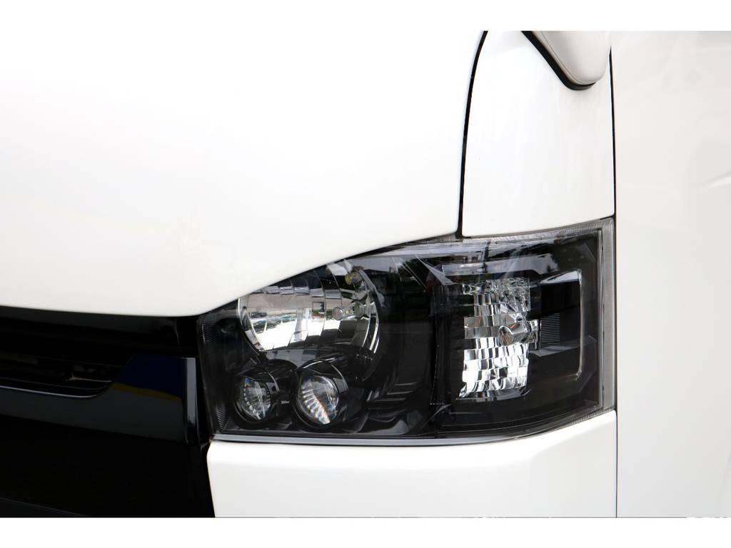LEDヘッドライトインナーブラック施工! | トヨタ ハイエースバン 2.0 スーパーGL ロング COBRAエアロ