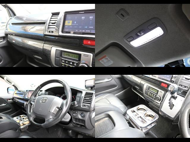コンビハンドル&シフトノブ!インテリアパネル!LEGANCEドリンクホルダー!室内LED照明! | トヨタ ハイエースバン 2.0 スーパーGL ロング COBRAエアロ