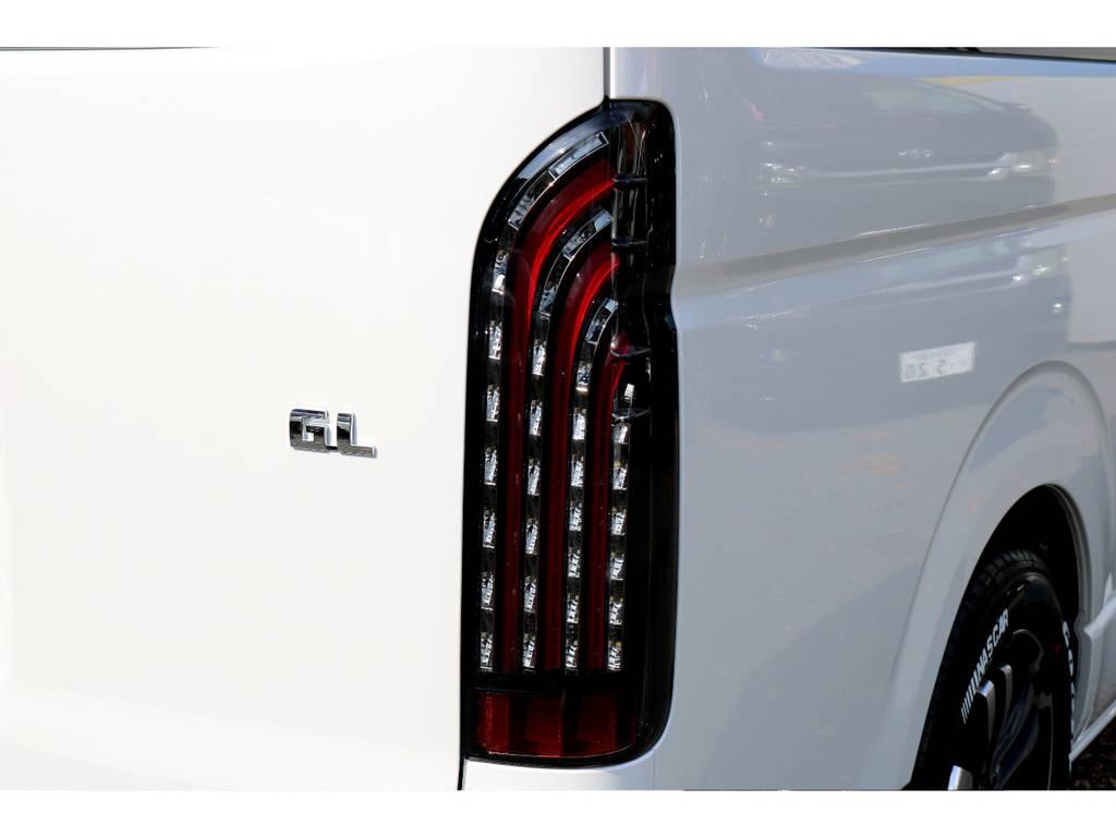 FLEX煌LEDテール! | トヨタ ハイエース 2.7 GL ロング ミドルルーフ 新型TSSP有ナビパッケージ