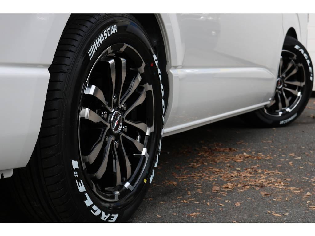 シャレン17インチアルミ!GOODYEARタイヤ! | トヨタ ハイエース 2.7 GL ロング ミドルルーフ 新型TSSP有ナビパッケージ