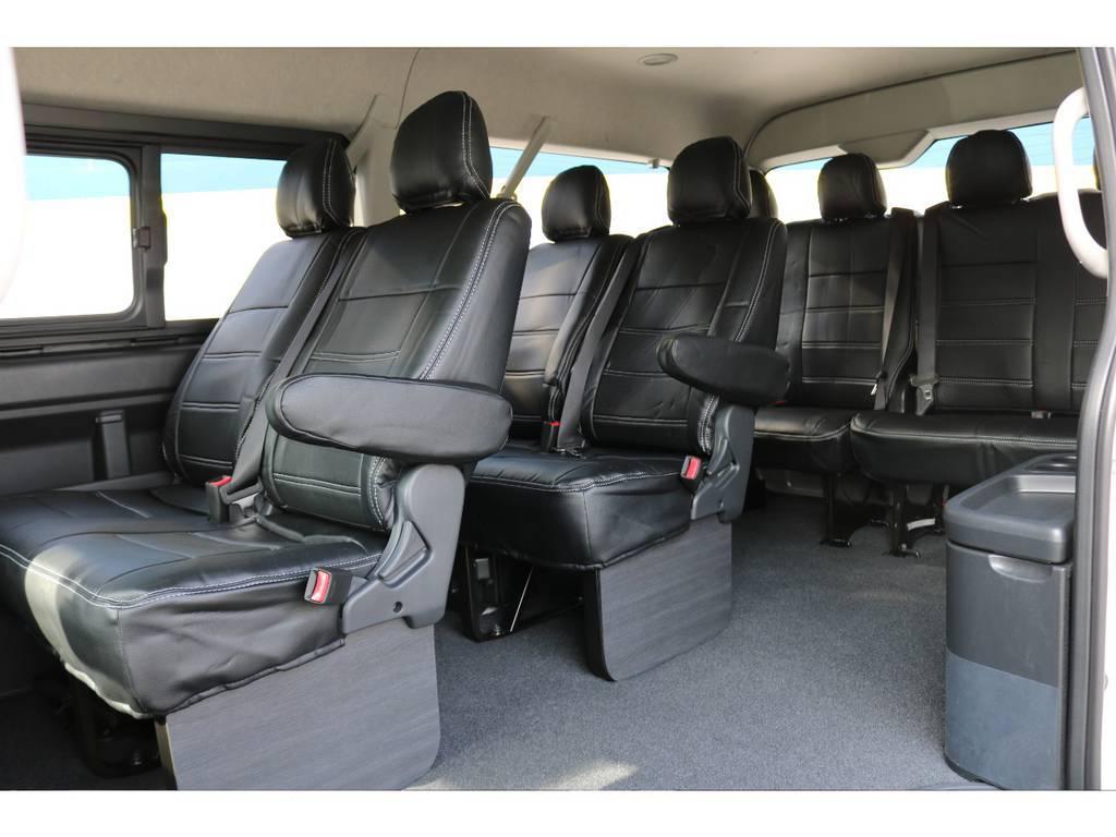 全席シートカバー装着! | トヨタ ハイエース 2.7 GL ロング ミドルルーフ 新型TSSP有ナビパッケージ