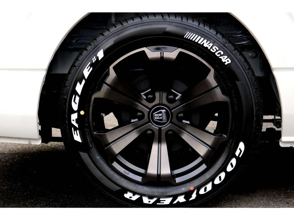 FLEXバルベロ17インチアルミ!GOODYEARタイヤ! | トヨタ ハイエースバン 2.8 スーパーGL ダークプライムⅡ ロングボディ ディーゼルターボ 新型TSSP有DプライムⅡナビPK