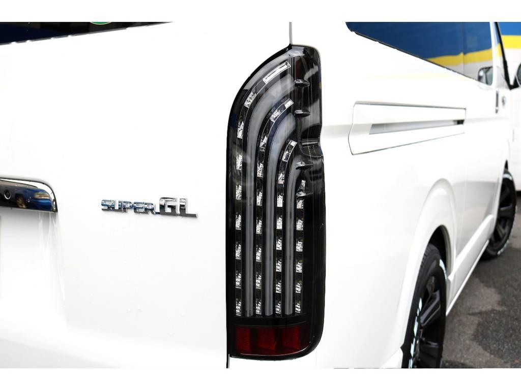 FLEX煌LEDテール! | トヨタ ハイエースバン 2.8 スーパーGL ダークプライムⅡ ロングボディ ディーゼルターボ 新型TSSP有DプライムⅡナビPK