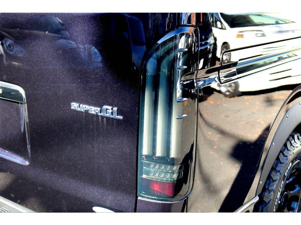 新品ヴァレンティーLEDテール(ウィンカーが流れます)   トヨタ レジアスエース 2.7 スーパーGL ワイド ミドルルーフ ロングボディ 4WD 買取直販4WDスタイル