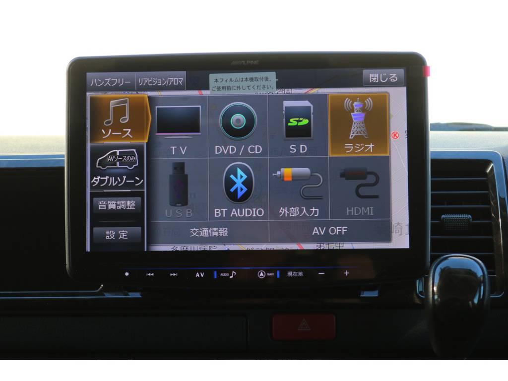新品アルパインBIGX11インチナビを取り付け!   トヨタ レジアスエース 2.7 スーパーGL ワイド ミドルルーフ ロングボディ 4WD 買取直販4WDスタイル
