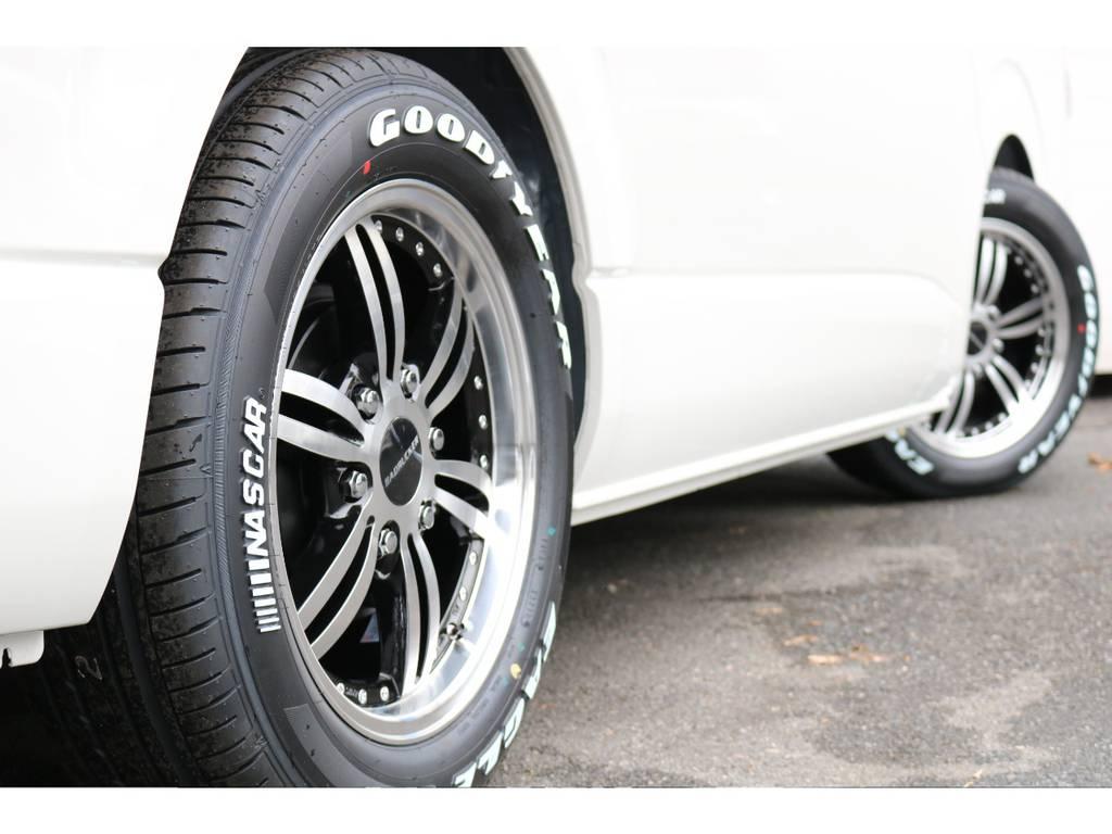 COBRA17インチアルミ!GOODYEARタイヤ! | トヨタ ハイエース 2.7 GL ロング ミドルルーフ 買取直販ワンオーナー車シートアレンジ車
