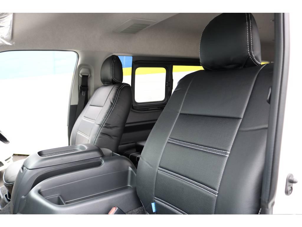 FLEXシートカバー装着済み! | トヨタ ハイエース 2.7 GL ロング ミドルルーフ 買取直販ワンオーナー車シートアレンジ車