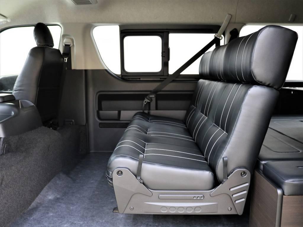 FLEXシートアレンジ車!3人掛けシートに変更ずみ! | トヨタ ハイエース 2.7 GL ロング ミドルルーフ 買取直販ワンオーナー車シートアレンジ車