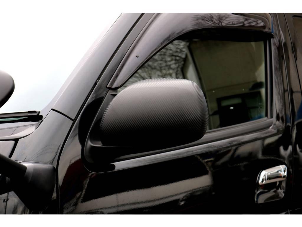ドアミラーカーボン調ラッピング!   トヨタ ハイエースバン 2.0 スーパーGL ロング 買取直販4型カスタム車