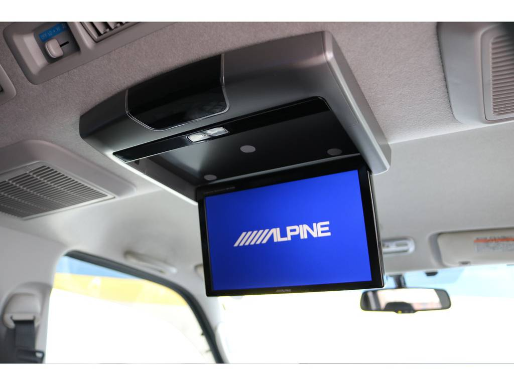 アルパインリアフリップダウンモニター!   トヨタ ハイエースバン 2.0 スーパーGL ロング 買取直販4型カスタム車
