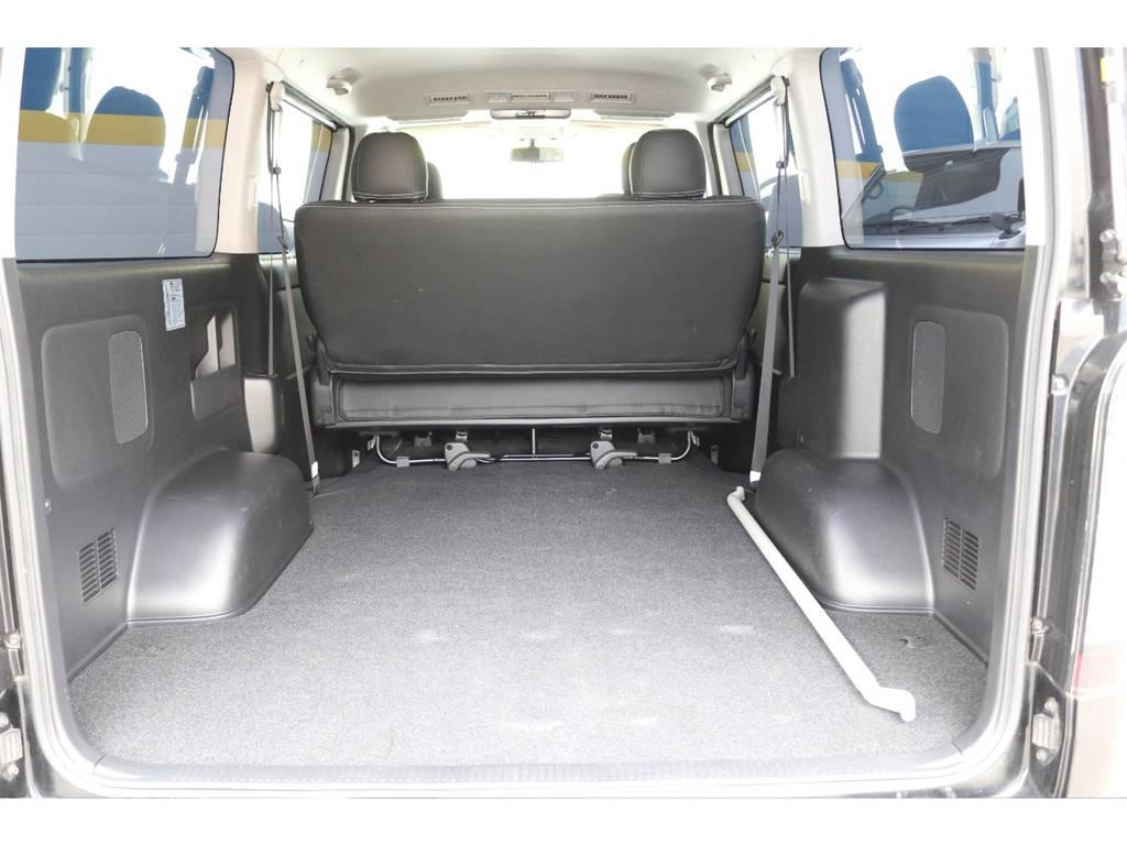 ラゲッジスペースもこんなに広々!   トヨタ ハイエースバン 2.0 スーパーGL ロング 買取直販4型カスタム車