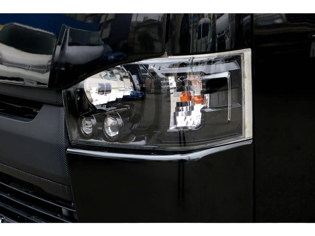 LEDヘッドライトインナーブラック施工!   トヨタ ハイエースバン 2.0 スーパーGL ロング 買取直販4型カスタム車