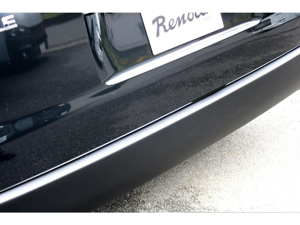 リアバンパーもマッドブラック塗装!