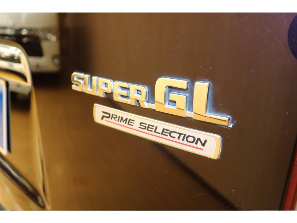 リアにもプライムセレクションの印が付いております! | トヨタ ハイエースバン 3.0 スーパーGL プライムセレクション ロング ディーゼルターボ 4WD ESSEXアルミホイール